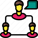 business, chat, group, messaging, user icon