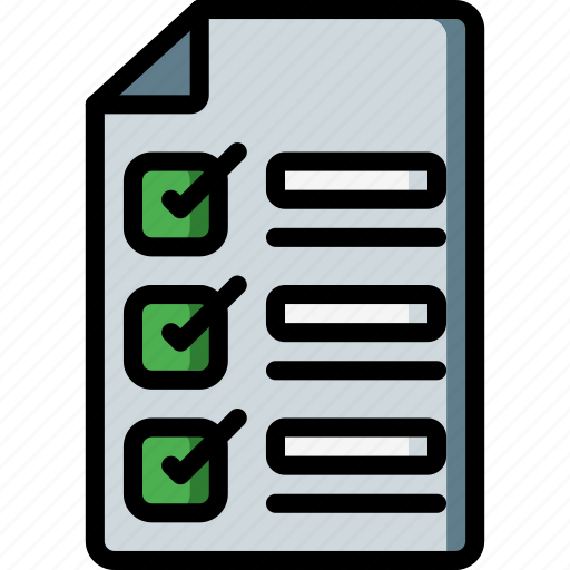 Business, check, checklist, document, list, paper icon - Download on Iconfinder