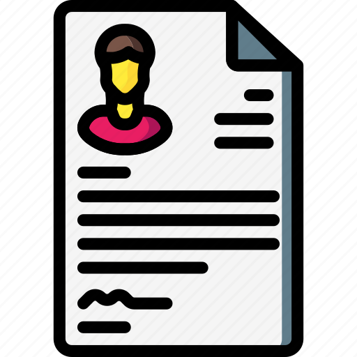 business, cv, document, paper, resume icon