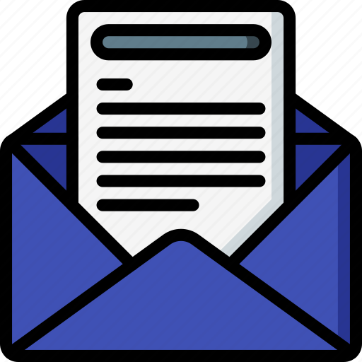 business, email, mail, opened, read, received icon