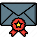 business, email, favourite, mail, starred icon