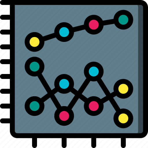 business, chart, graphs, report, scatter, stats, table icon