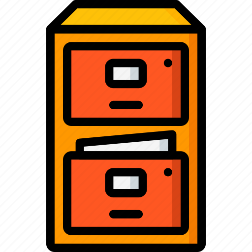 business, cabinet, filing, furniture, storage icon