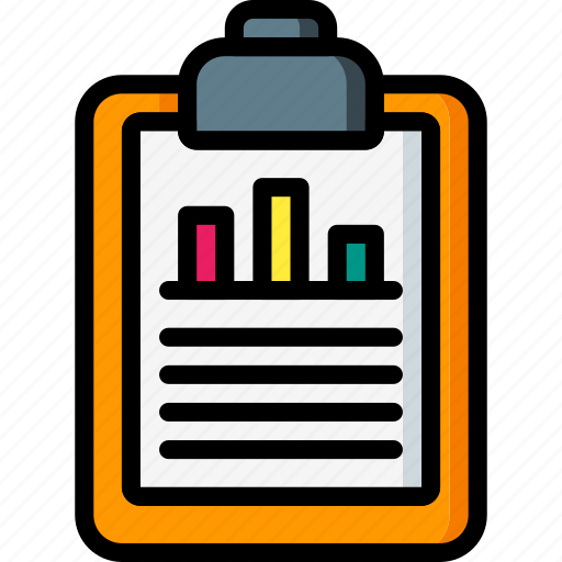 business, chart, clipboard, document, graph, stats icon