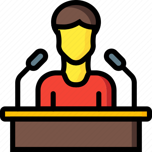 business, conference, seminar, speech icon