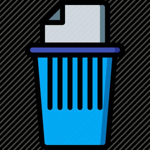 business, document, paper, shred, shredder, trash, waste icon
