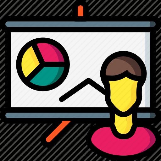 board, business, chart, graph, presentation, stats, user icon
