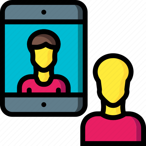 business, chat, ipad, messaging, mobile icon
