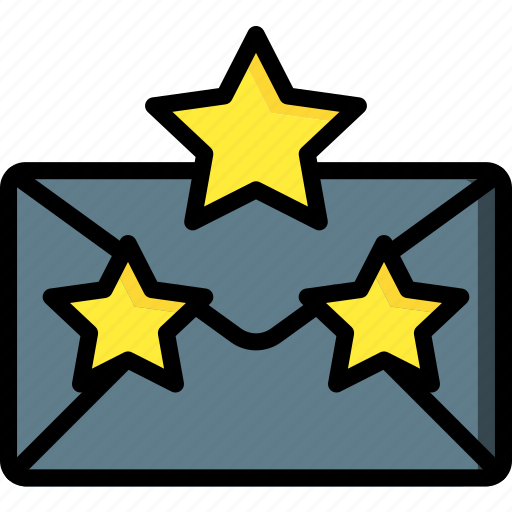 business, email, favourite, mail, starred, ultra icon