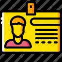business, card, id, identification, yellow
