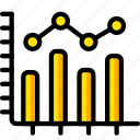 business, chart, graph, stats, table, yellow icon