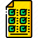 business, check, document, list, yellow