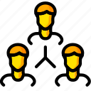 business, group, user, yellow icon