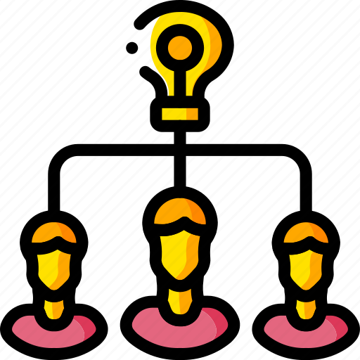 business, group, idea, tank, think, users, yellow icon