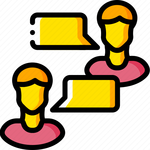 business, chat, messaging, user, yellow icon