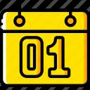 business, calendar, date, yellow