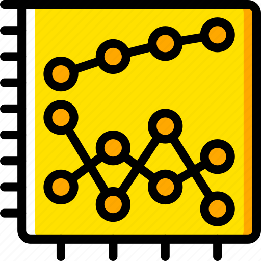business, chart, graph, graphs, scatter, stats, yellow icon