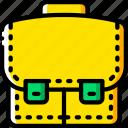breifcase, business, satchel, storage, yellow