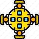 board, business, conference, meeting, table, users, yellow icon