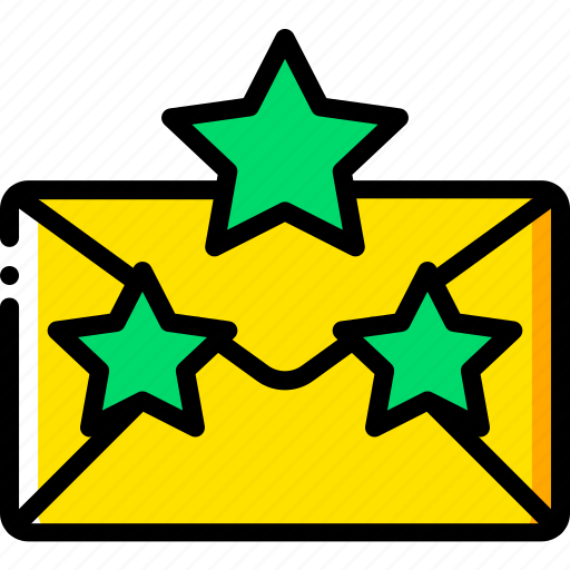 business, email, favourite, mail, starred, yellow icon