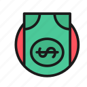 baks, bank, business, cash, finance, money, office icon