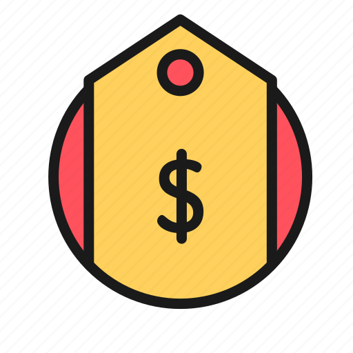bank, business, finance, money, office, tag icon