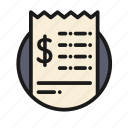 bank, business, check, finance, money, office icon