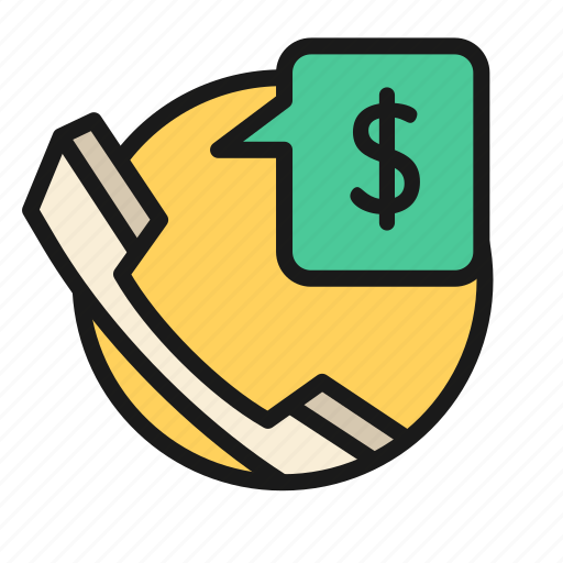 bank, business, finance, money, office, phone icon