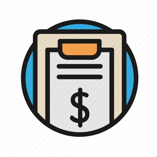 Bank, business, finance, list, money, office icon - Download on Iconfinder