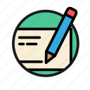 bank, business, check, finance, money, office, pencil icon