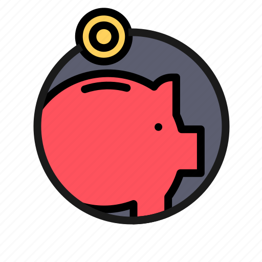 bank, business, finance, money, money box, office, pig icon