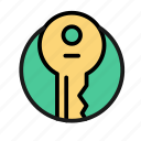bank, business, finance, key, money, office, safe icon