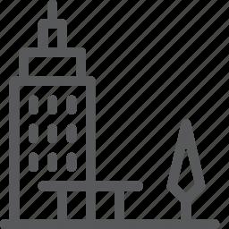 building, business, metropolis, office, park, skyscraper, work icon