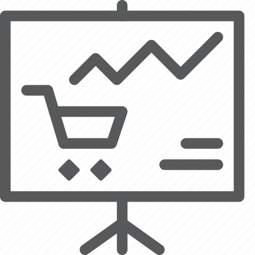 analytics, business, chart, graph, shopping, statistics, stock icon