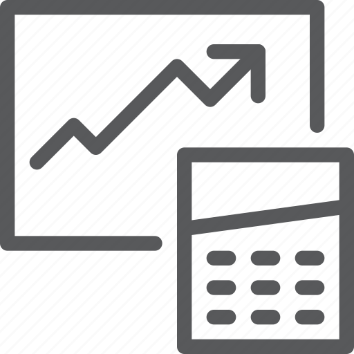 analytics, arrow, business, calculate, chart, graph, statistics, stock icon