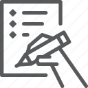 business, contract, sign icon