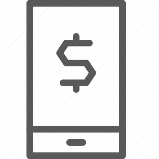app, business, currency, dollar, mobile, money, online, smartphone icon