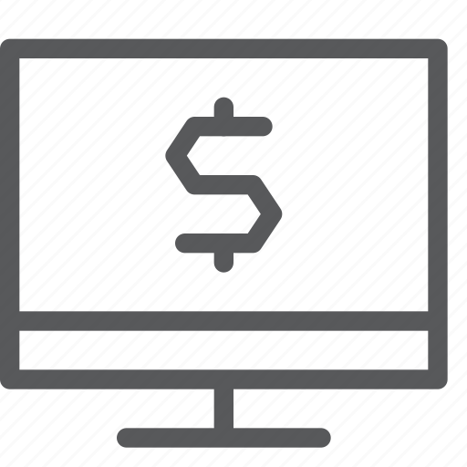 app, business, cash, imac, money, pc, screen, stock icon