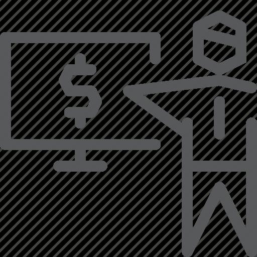 business, cash, imac, money, pc, present, screen, user icon