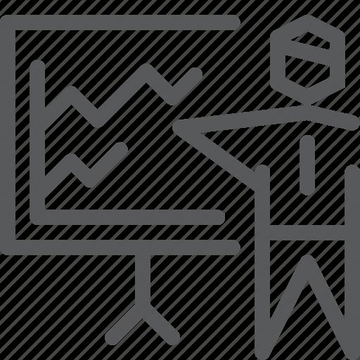 business, cash, graph, money, plan, present, projector, user icon