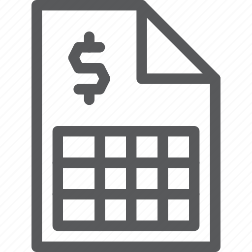 analytics, business, chart, dollar, graphic, statistics, stock, table icon