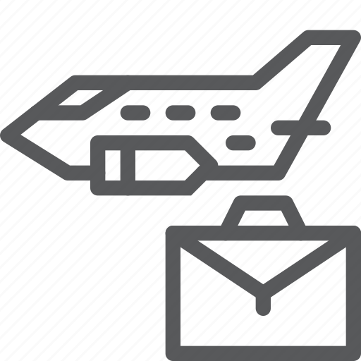 airplane, business, flight, fly, holiday, plane, trip icon