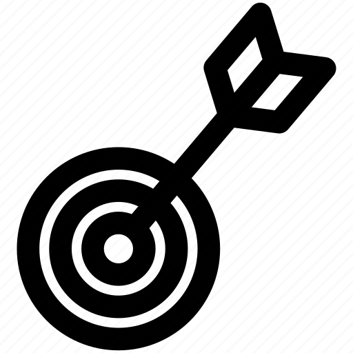 archery, business goal, goal, target, target arrow icon
