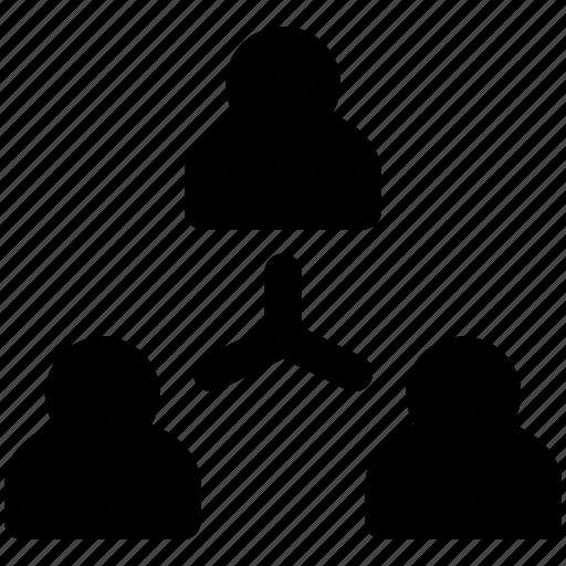 company, corporation, group, team, tree icon