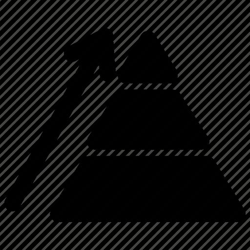 company development, growth, pyramide, pyramide chart icon