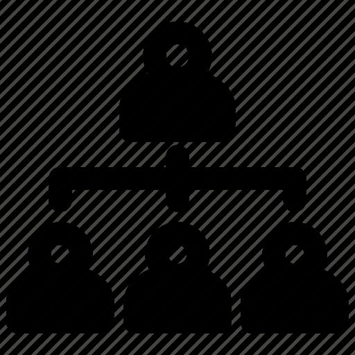 company, hierarchy, human resources, people, tree icon