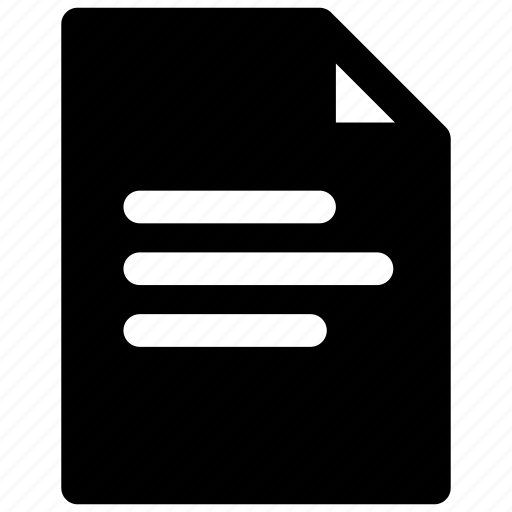 document, file, report icon