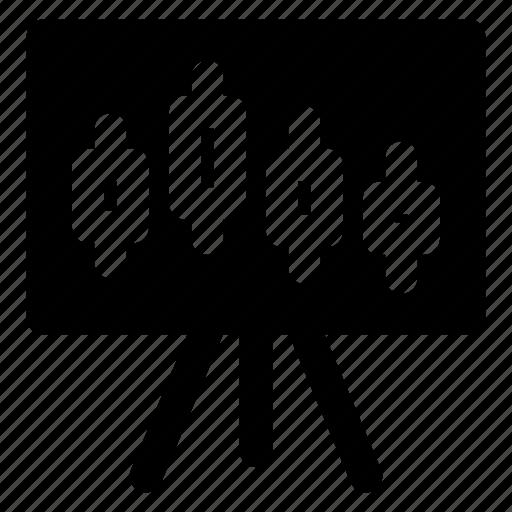 analysis, chart, forex, statistics, stocks icon