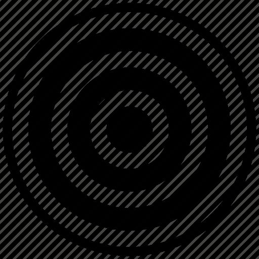 business goal, circles, goal, target icon