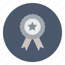achievement, award, business, reward, ribbon, victory, win icon